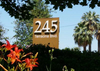 245 Terracina Blvd Sign
